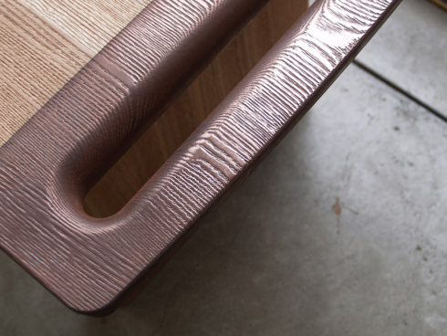 BENCH COVERD WITH METALLIC SKIN