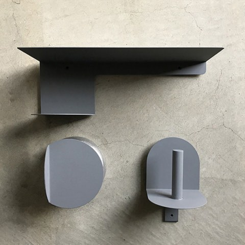 Toilet paper holder, Shelf & Door handle for townz